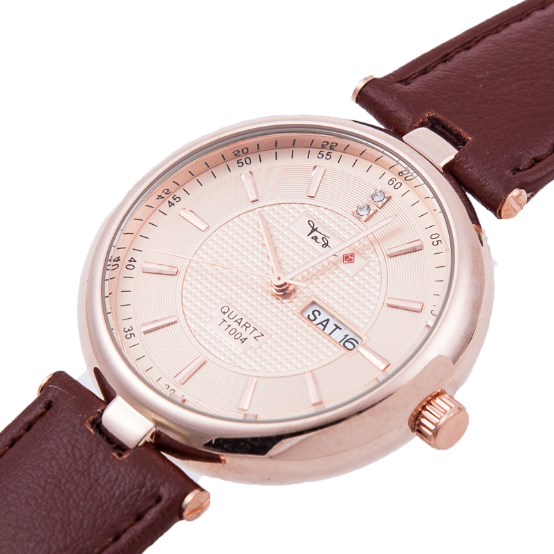 TADA brand Luxury Brand Genuine Leather Strap Analog Casual women wristwatch japan quartz movement lady watch relogio masculino(China (Mainland))