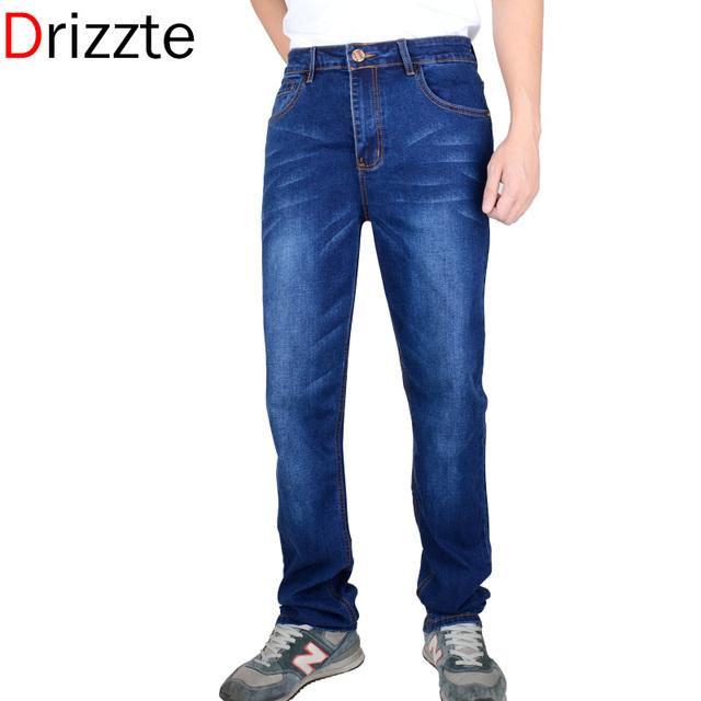 Drizzte мужская мода джинсы мужские жан марка классический Джинса уменьшают подходящие ...
