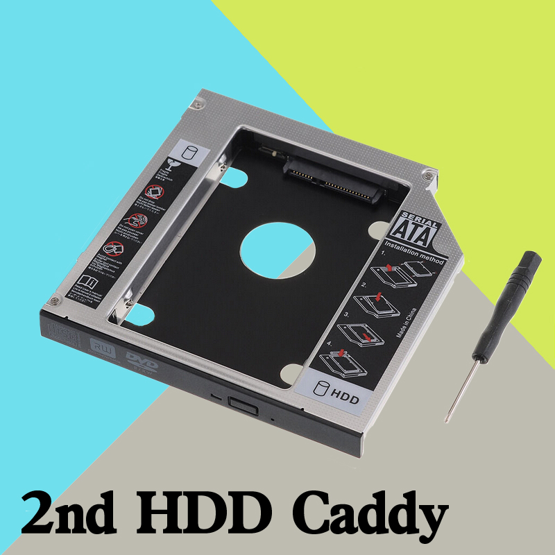 12.7mm SATA 2nd Hard Disk Drive SSD HDD Caddy Adapter bay For ASUS K53 K54 K55 K61 K62 Series Laptop()