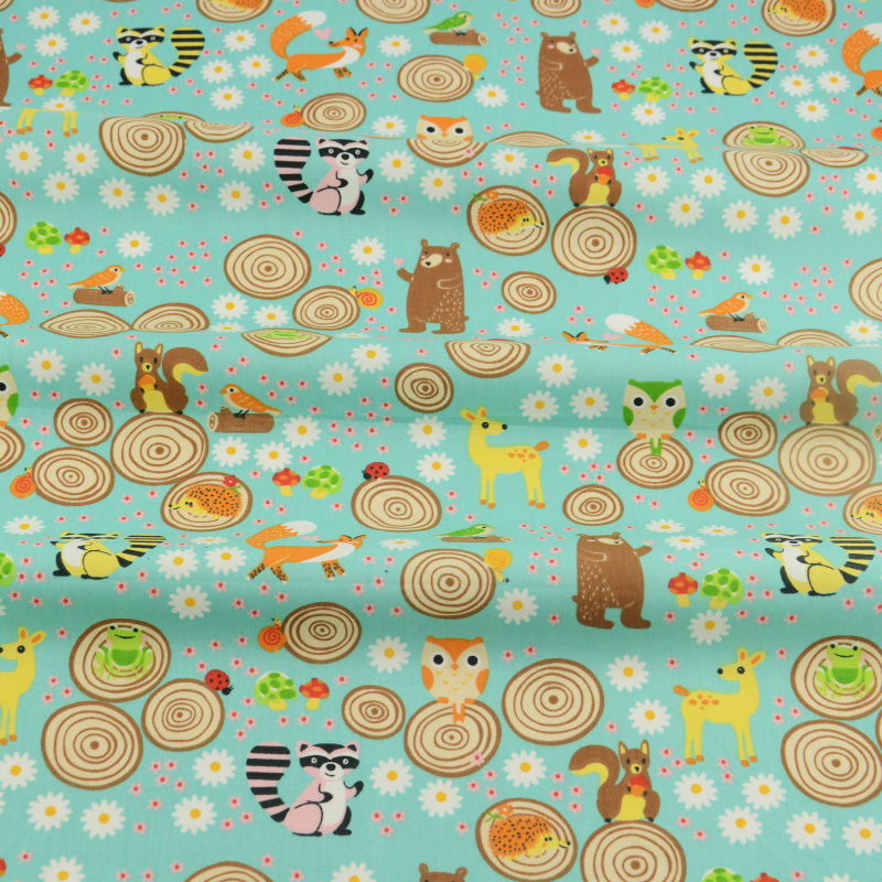 Different cartoon parttern printed cotton fabric for for Children s material sewing
