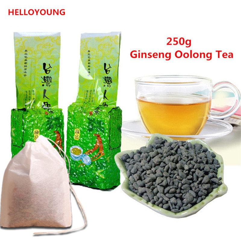 250g Famous Health Care Taiwan Ginseng Oolong Tea, Chinese Ginseng Tea, Slimming tea, Wulong tea bag+gift(China (Mainland))