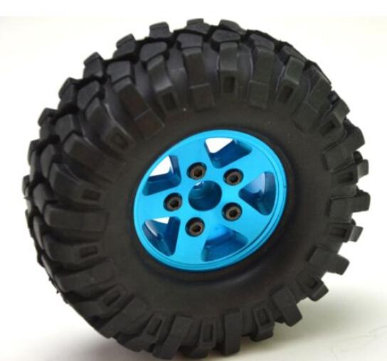 "1/10 RC Crawler SCX10 CC01 1.9"" Alloy rims Wheels w/108mm Tires (4)(China (Mainland))"