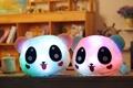 50cm 20 Luminous Stuffed Panda Toy LED Light Up Plush Doll Glow Pillow Music Playing Auto