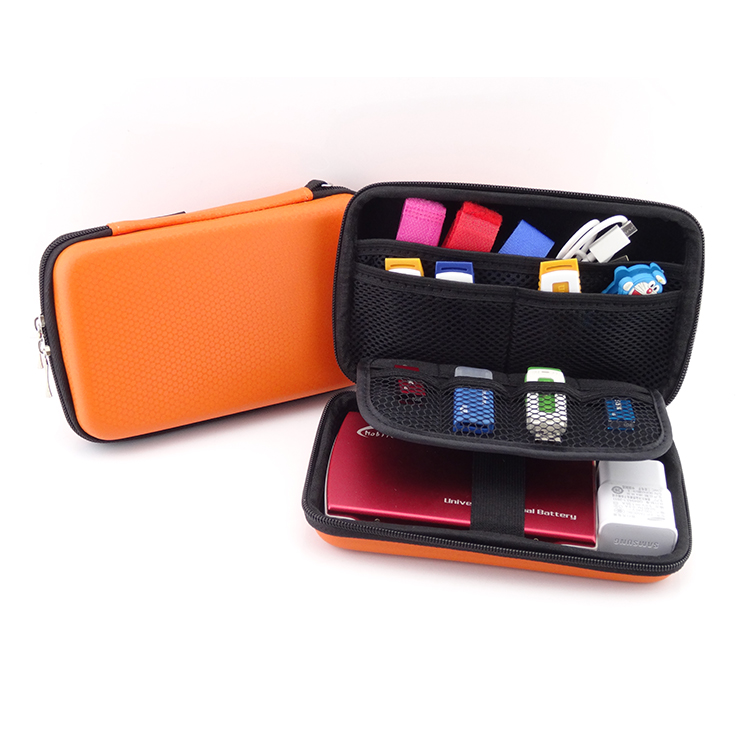 Portable case for wd my passport estuche disco duro externo orange 2.5 external hard drive hard disk case bag power bank case(China (Mainland))