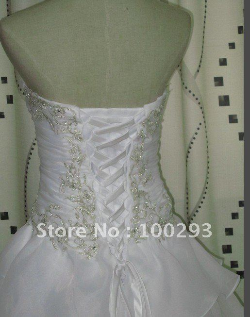 Free Shipping Newest Wholesale Beaded bridal gown 2016 JJ2686(China (Mainland))