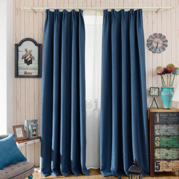 Rideaux occultants modernes style crochet couleur unie - Style de rideaux pour salon ...