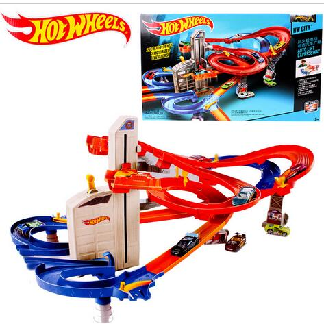 Hot Wheels CDR08 Roundabout track toy kids toys Plastic metal miniatures scale cars track model CDR08 classic antique toy car(China (Mainland))