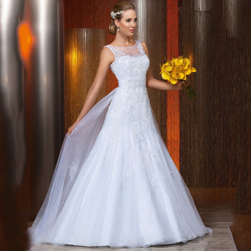 Popular modern vintage wedding dress buy cheap modern for Modern vintage lace wedding dress