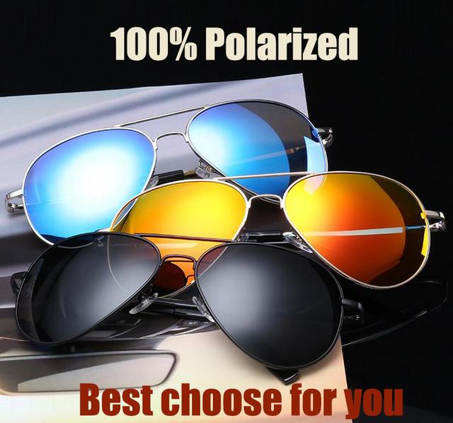 Новый бренд 100% поляризованный сплава + PC рамка солнцезащитные очки мода мужская ...