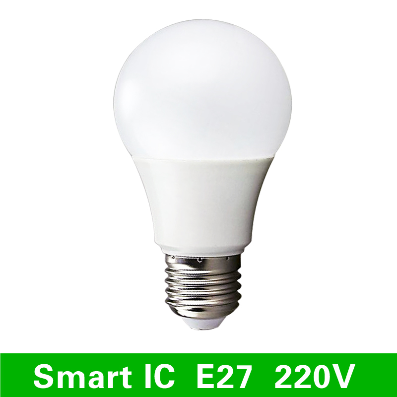 Led lamps e27 220v light bulb smart ic real power 3w 5w 7w 9w 12w 15w high brightness lampada Smart light bulbs