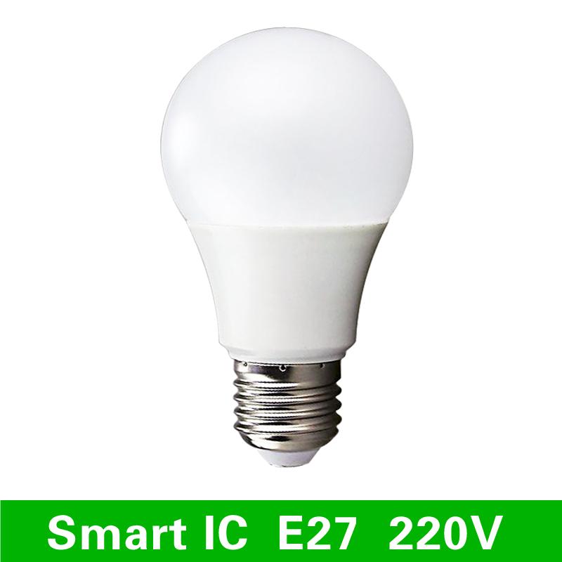 LED Lamps E27 220V Light Bulb Smart IC Real Power 3W 5W 7W 9W 12W 15W High Brightness Lampada LED Bombillas(China (Mainland))