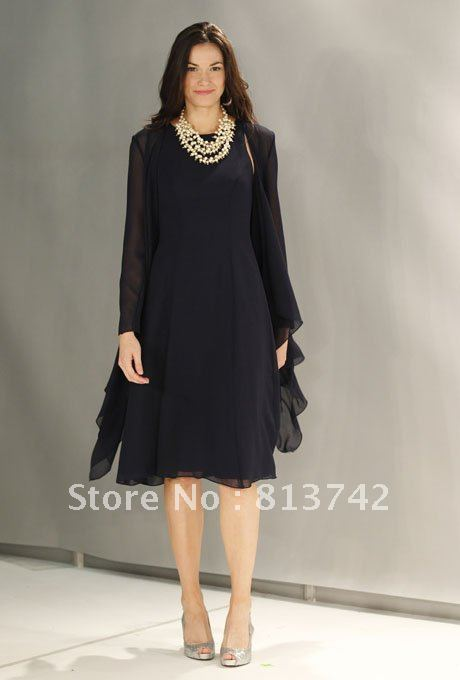 Mother of the bride dresses with jacket scoop a line full for Mother of the bride dresses for fall wedding