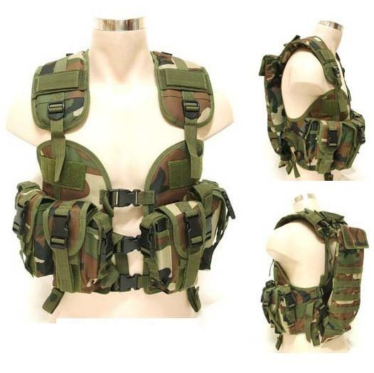 CQB LBV Navy Seals water bag tactical vest -Woodland camouflage(China (Mainland))