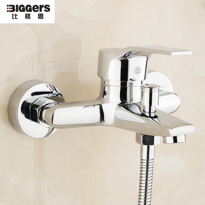 Free Shipping Hot Sale Top Quality Chrome Finish Brass Bath Shower Faucet Mixer Wall Mounted