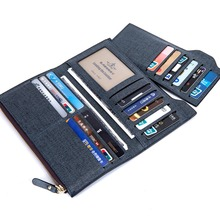 2016 Men Long Wallet Coin Bag zipper ID Credit Card Holder Bifold Coin Purse Top Brand clutch Wallet Pockets Promotion Gift(China (Mainland))