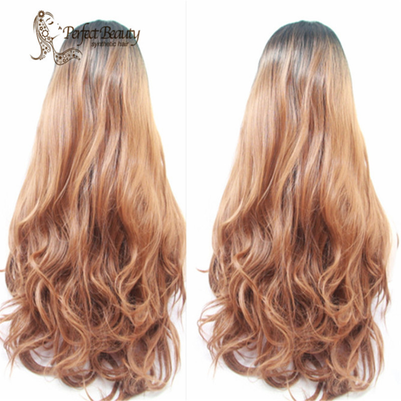Fashion Hot Selling Natural Wave Heat Resistant Hair Synthetic Lace Front Wigs For Women Nice Wigs<br><br>Aliexpress