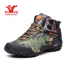 XIANGGUAN Woman Hiking Shoes for Women Nice Athletic Trekking Boots Camo Zapatillas Sport Climbing Shoe Outdoor Walking Boot