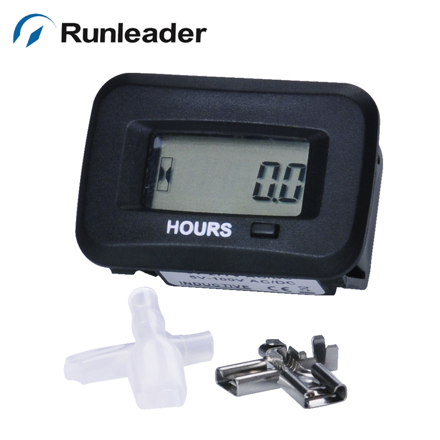Snap on waterproof AC DC timer hour meter  for ATV lawn mower Chainsaw compressor tiller chipper marine farm tractor excavator<br><br>Aliexpress