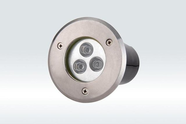 3*1W led underground light, size:dia120*65mm;12/24V input,45/60 beam angle, R/Y/G/B/W color optional,please advise for order