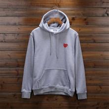 brand bad boy hip hop street wear 2016 Comme des garcons cdg play sweatshirt eminem men women hoodies sweatshirts heart print(China (Mainland))
