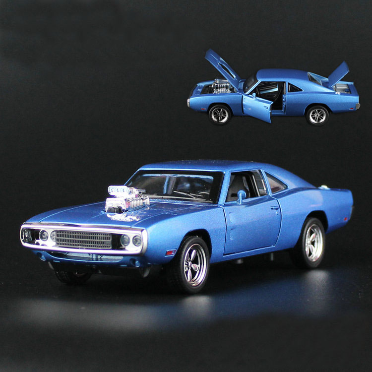 R/T Fast & Furious 1:32 Car model 1970 Dodge Chargers Kids Toy Diecast pull back light sound Mustang Challenger sports car gift(China (Mainland))