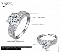 2015 New Arrival Simple Style Finger Ring 18K Gold Platinum Plate Micro Inlay Cubic Zircon Lady