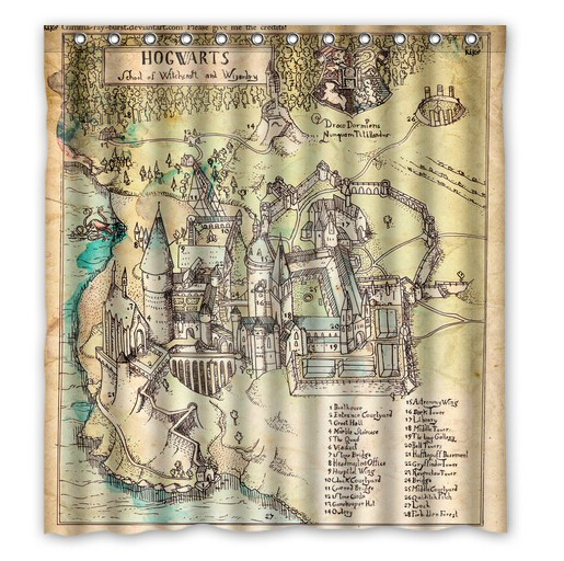 Hogwarts Map Custom Harry Potter Shower Curtain Home