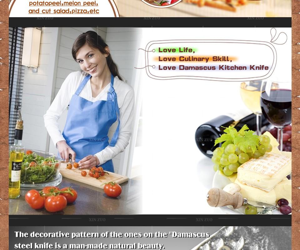 "Buy 2016 NEWEST 3.5"" fruit knife Damascus kitchen knives high quanlity paring knife senior damascus steel parer knife FREE SHIPPING cheap"