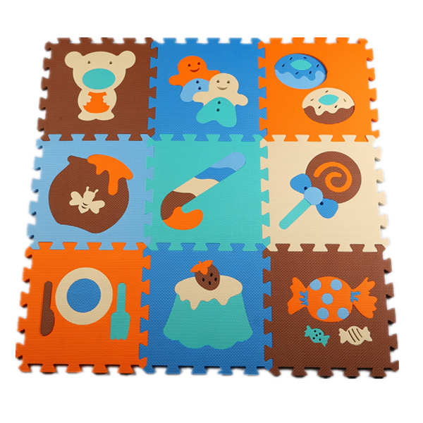 9 pcs/set Baby Carpet Gym Floor Play Mat 30*30cm EVA Foam Cartoon Animal Jigsaw Game Children's Rugs Puzzle Mat(China (Mainland))