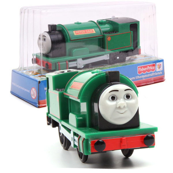 T0222 Electric Thomas and friend Peter sam with one carriage Trackmaster engine Motorized train Chinldren kids toys with package(China (Mainland))