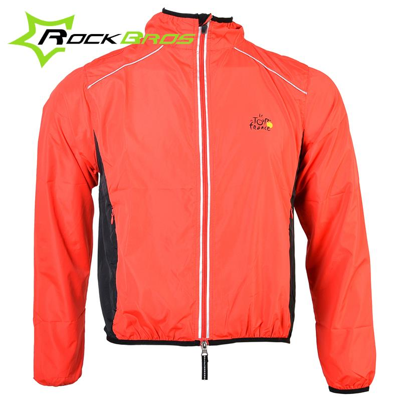ROCKBROS Tour de France Cycling Sports Men Riding Breathable Reflective Jersey Cycle Clothing Long Sleeve Wind Coat Jacket(China (Mainland))