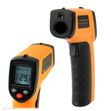 Non-Contact Laser LCD Display Digital IR Infrared Thermometer Temperature Meter Gun Point GM320 -50~330 Degree 14740 3F