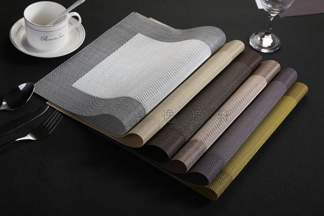 Free delivery pvc placemat dinner table mat cup mat coaster disk pads waterproof cloth pad slide pads 6 color(China (Mainland))