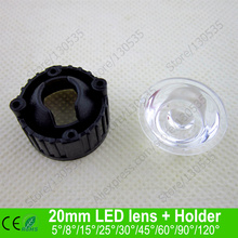 Buy 20MM Black color smooth surface LED lens holder 5 15 25 30 45 60 90 120 degree led lens bracket holder LED lamps for $24.61 in AliExpress store
