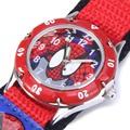 Cartoon Spiderman Watches Fashion Children Boys Kids Students Spider Man Nylon Sports Watches Analog Wristwatch