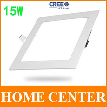 15W CREE LED Recessed Ceiling lights led Panel Lighting Bulb with driver Square free shipping with tracking number for dropship(China (Mainland))