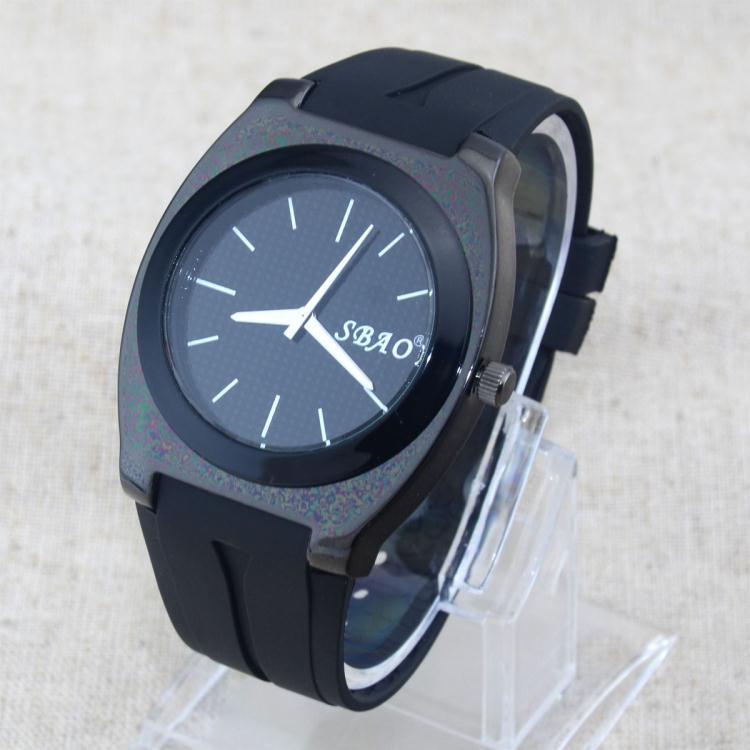 Simple Dial Silicone Fashion Men Boy Dress Watches Rubber Jelly Quartz Wrist Watch - China happyshopping Co., Ltd. store