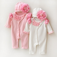 Newborn baby girl clothes princess formal dress infant clothing bebe lace floral rompers fashion baby jumpsuit(China (Mainland))