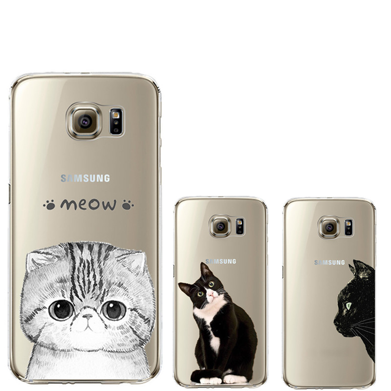 cute cat design coque for samsung galaxy s3 s4 s5 s6 s7. Black Bedroom Furniture Sets. Home Design Ideas