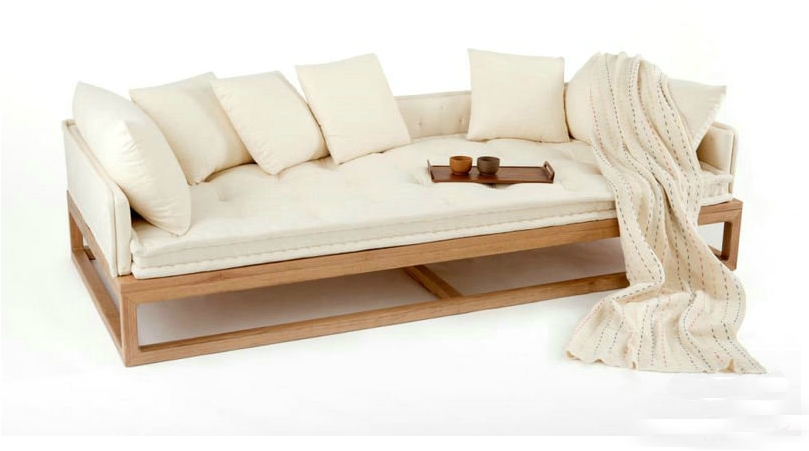 New oriental zen zen rohan couch bed old elm chinese trio for Oriental sofa designs