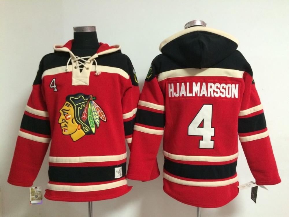 2015 Free Shipp. Chicago Blackhawks Cheap Ice Hockey Jersey Hoodie #4 Niklas Hjalmarsson men's Hockey Hoodies/ Hooded Sweatshirt