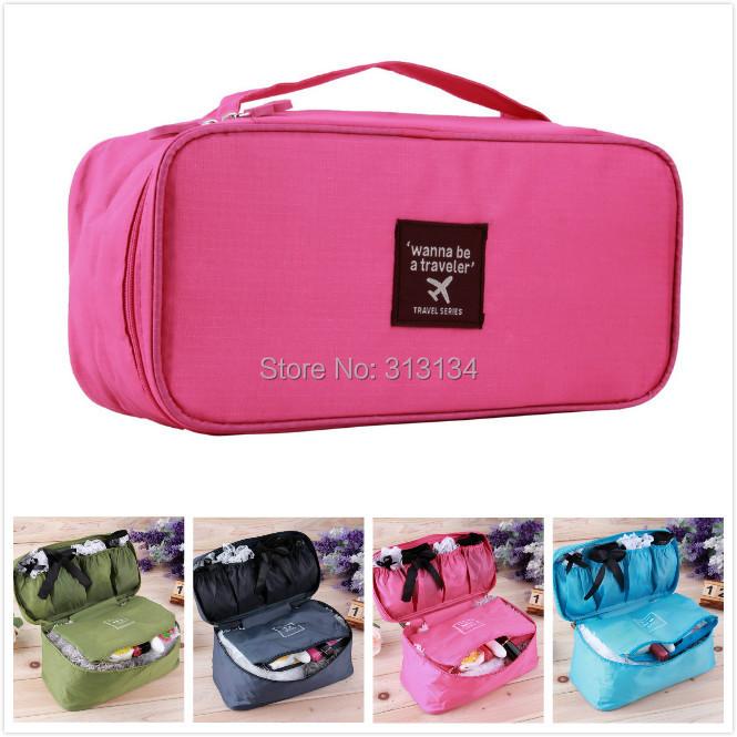 2015 New Waterproof Travel Pouch,Nylon Multifunction Make up Travel Portable Underwear Bag Luggage Storage Bra Organizer(China (Mainland))