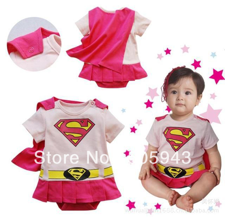 Cheap Childrens Halloween Costumes mommy and daddy and me halloween costumes what to expect Free Shipping Cheap Wholesale Pink Super Girl Onesie Infant Costume Halloween Costume Kids Halloween Costume
