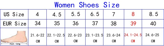 woemn shoes size