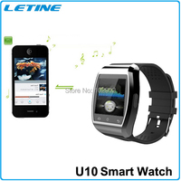 Best Gift Fashion Leisure Wristwatch Smart Watch U10 Pro For iPhone 6/5/5S/5C/4S/4 Samsung Galaxy S4 Note4 Huawei Smartphone