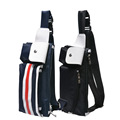 Fashion Movement Pockets Multifunction Organizer Shoulder Messenger Cross package Men s Chest Pack Sport Waist Pack