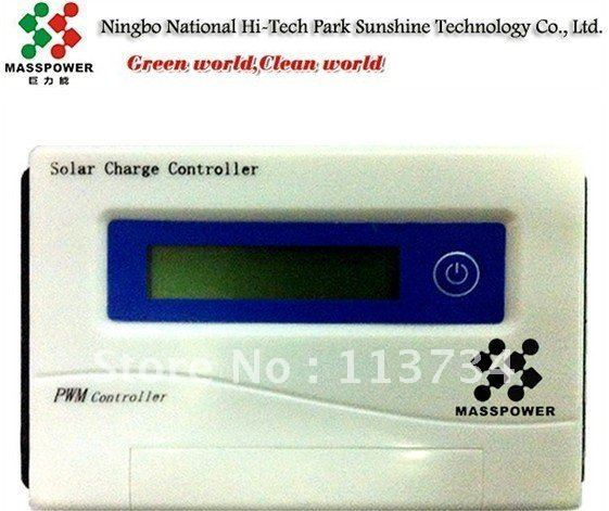 PWM 40A 12/24v LCD display Solar PV Panel Battery Charge Charger Power Controller Regulator 12 24v for solar panel