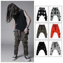 New fashion ins kids cool Harem Pants high quality nununu cross printed star Harem Pants for children kid trousers