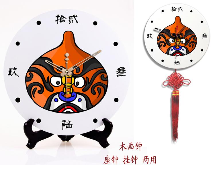 new arrival Clock wall clock dual 12 wooden clock mute clock classical facebook decoration home(China (Mainland))