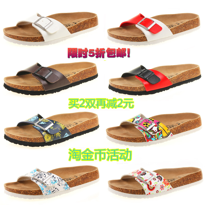 free shipping new 2015 summer sandals cork slippers